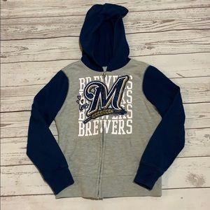 Girls Milwaukee Brewer sweatshirt size 7